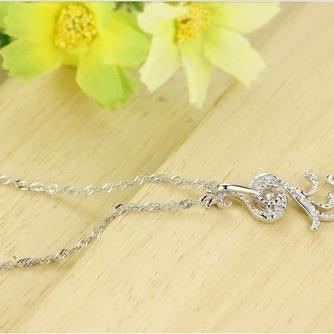 Diamant incrusté argent femmes paon de Fashion Collier pendentif - Page 4