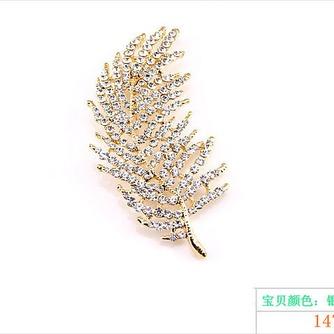 feuille d'arbre tout-match alliage gros bijoux broche - Page 1