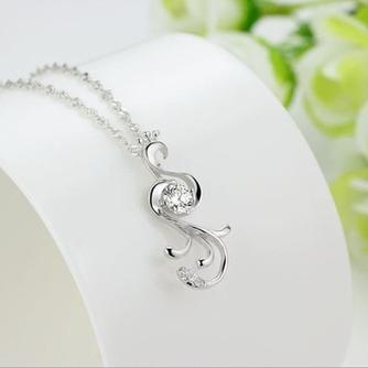 Diamant incrusté argent femmes paon de Fashion Collier pendentif - Page 3