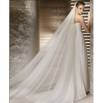 Voile de mariée Formelle Printemps Traîne Mi-longue Multi Couche - Page 1