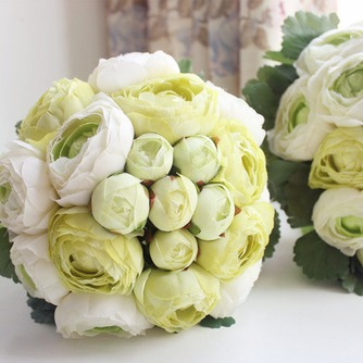 Les feuilles sont vert mariage tenant fleurs fleurs tenue demoiselle d'honneur - Page 1