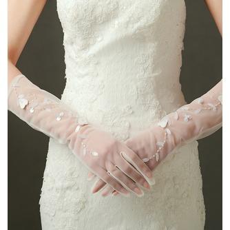 Gants de mariage Sexy Pailleté Translucent Long Shade Full finger - Page 1