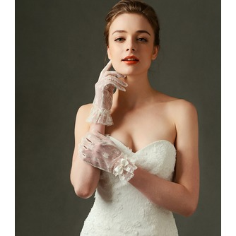 Gants de mariage Désirable Translucent Short Decoration Ivory - Page 2
