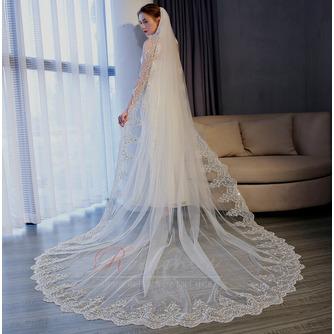 3M queue longue tulle dentelle bord voile accessoires de mariage - Page 3