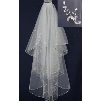 Voile de mariée Pittoresque Perler White Short Printemps Robe de Mariée Déesse - Page 1