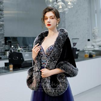 Manteau de mariage robe de mariée hiver châle imitation fourrure chaude châle - Page 4