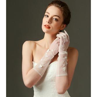 Gants de mariage Sexy Pailleté Translucent Long Shade Full finger - Page 2