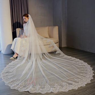 3M queue longue tulle dentelle bord voile accessoires de mariage - Page 1