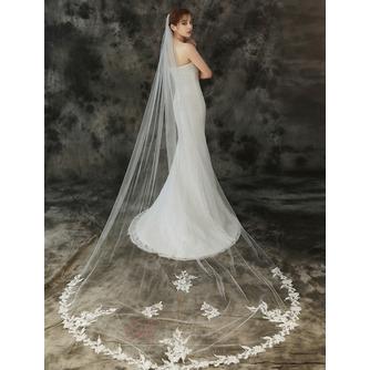 Voile de mariée 3M monocouche avec peigne à cheveux et voile de dentelle délicat - Page 2