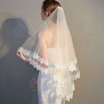 Voile de mariée voile de dentelle voile court voile simple - Page 1