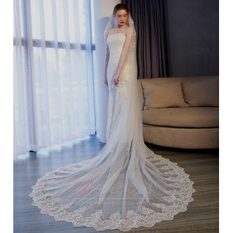 3M queue longue tulle dentelle bord voile accessoires de mariage - Page 4