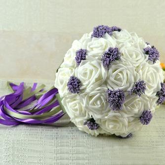 Bouquets de mariée blanches de la tenue d'un cadeau de mariage bouquet de mariée cadeaux pure simulation manuelle - Page 2