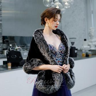 Manteau de mariage robe de mariée hiver châle imitation fourrure chaude châle - Page 5