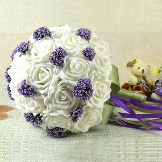 Bouquets de mariée blanches de la tenue d'un cadeau de mariage bouquet de mariée cadeaux pure simulation manuelle - Page 3