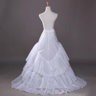 Jupon de mariage Three rims Trailing Long Wedding dress Polyester taffeta - Page 2