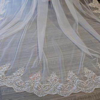 3M queue longue tulle dentelle bord voile accessoires de mariage - Page 5