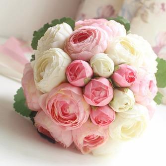 Bouquet de fleurs à main simple diamant perle atmosphérique une matrone d'honneur - Page 1