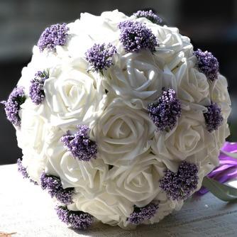 Bouquets de mariée blanches de la tenue d'un cadeau de mariage bouquet de mariée cadeaux pure simulation manuelle - Page 1