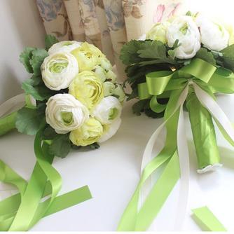 Les feuilles sont vert mariage tenant fleurs fleurs tenue demoiselle d'honneur - Page 2