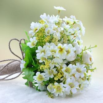 Fleurs de thé vert et blanc à la main bouquet brides coréenne mariées simulation - Page 2