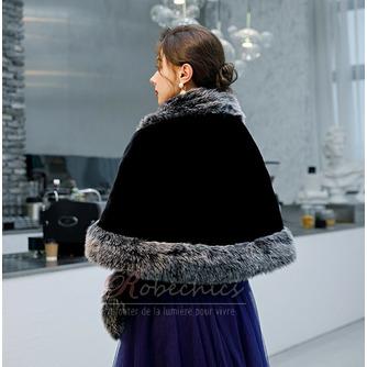 Manteau de mariage robe de mariée hiver châle imitation fourrure chaude châle - Page 2