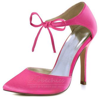 Chaussures de mariage en satin aiguille Chaussures de mariage de grande taille Robe de banquet Chaussures simples - Page 2