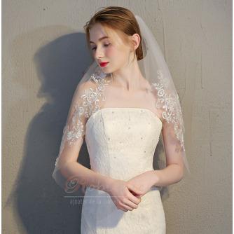 Mariée courte voile avec peigne voile délicat dentelle dentelle voile accessoires de mariage - Page 2