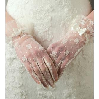 Gants de mariage Désirable Translucent Short Decoration Ivory - Page 1