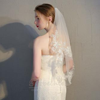 Mariée courte voile avec peigne voile délicat dentelle dentelle voile accessoires de mariage - Page 4