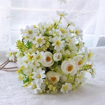 Fleurs de thé vert et blanc à la main bouquet brides coréenne mariées simulation - Page 1