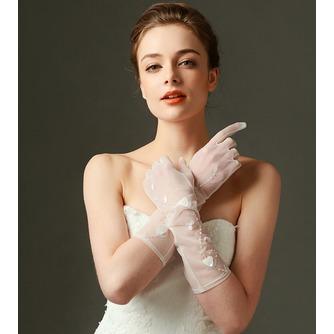 Gants de mariage Sexy Pailleté Translucent Long Shade Full finger - Page 3