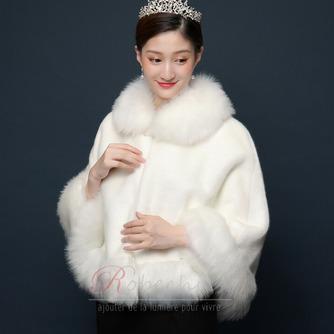 Fausse fourrure grand manteau hiver grande taille châle chaud - Page 4