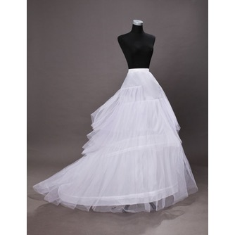 Jupon de mariage Three rims Trailing Long Wedding dress Polyester taffeta - Page 4