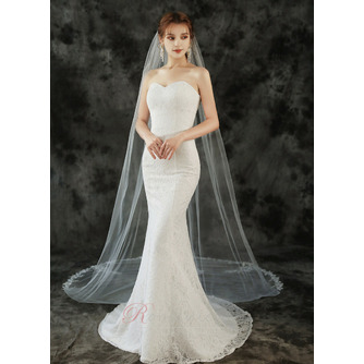 Voile de mariée 3M monocouche avec peigne à cheveux et voile de dentelle délicat - Page 3