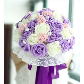 La mariée est titulaire d'un studio de tournage accessoires bouquet tiffany bleu blanc vert fiffany - Page 1