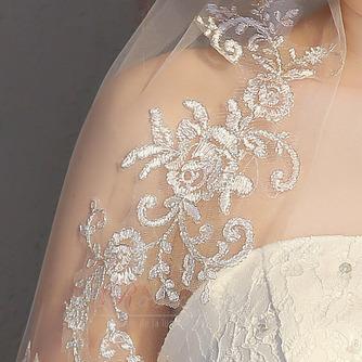 Mariée courte voile avec peigne voile délicat dentelle dentelle voile accessoires de mariage - Page 5