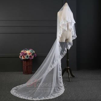 Dentelle paillette voile accessoires de mariage luxe voile fait main mariée voile de mariage - Page 3