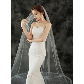 Voile de mariée 3M monocouche avec peigne à cheveux et voile de dentelle délicat - Page 4