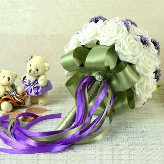 Bouquets de mariée blanches de la tenue d'un cadeau de mariage bouquet de mariée cadeaux pure simulation manuelle - Page 4