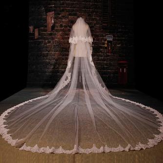 Grand voile de dentelle de fuite voile de mariée long voile de mariage - Page 1