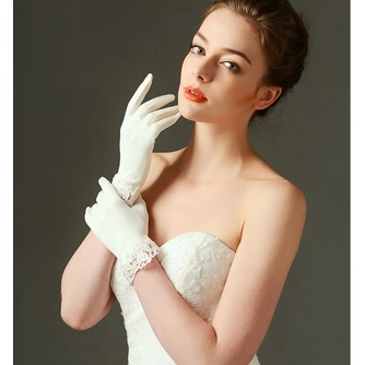 Gants de mariage Decoration Ivory Appropriate Satin Dentelle Short - Page 2