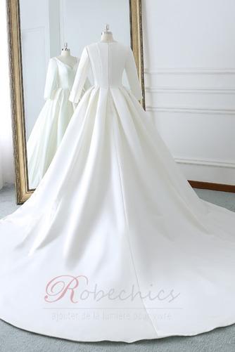 Robe de mariée Naturel taille Norme Plage Au Drapée Longue Automne - Page 4