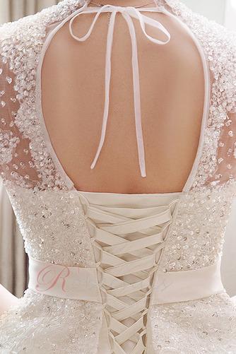 Robe de mariée Broderie A-ligne Naturel taille Satin Salle Lacet - Page 5
