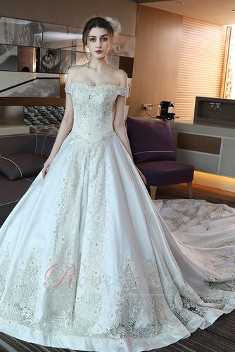 Robe de mariée Trou De Serrure Traîne Royal Naturel taille Couvert de Dentelle - Page 3
