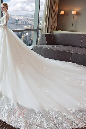 Robe de mariée A-ligne Longue Formelle Cathédrale Naturel taille - Page 4