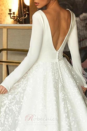 Robe de mariée Manche Longue Soie Couvert de Dentelle aligne Naturel taille - Page 6