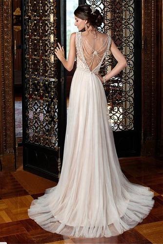 Robe de mariée Maigre Elégant Perle Longueur ras du Sol Naturel taille - Page 2
