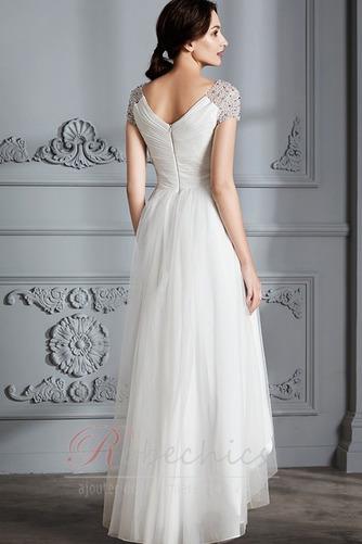 Robe de mariée Perle noble Asymétrique Plage Tulle Fourreau plissé - Page 2