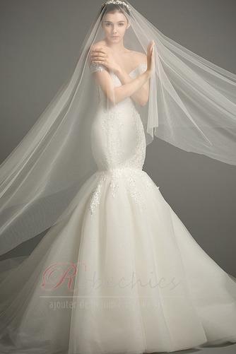 Robe de mariée Dos nu Manche Courte Sirène Mancheron Formelle - Page 4