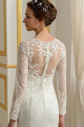 Robe de mariée Ruché Fourreau Longue Désirable Mince Tissu Dentelle - Page 5